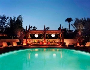 Gene Audrey Pool at the Parker Palm Springs.