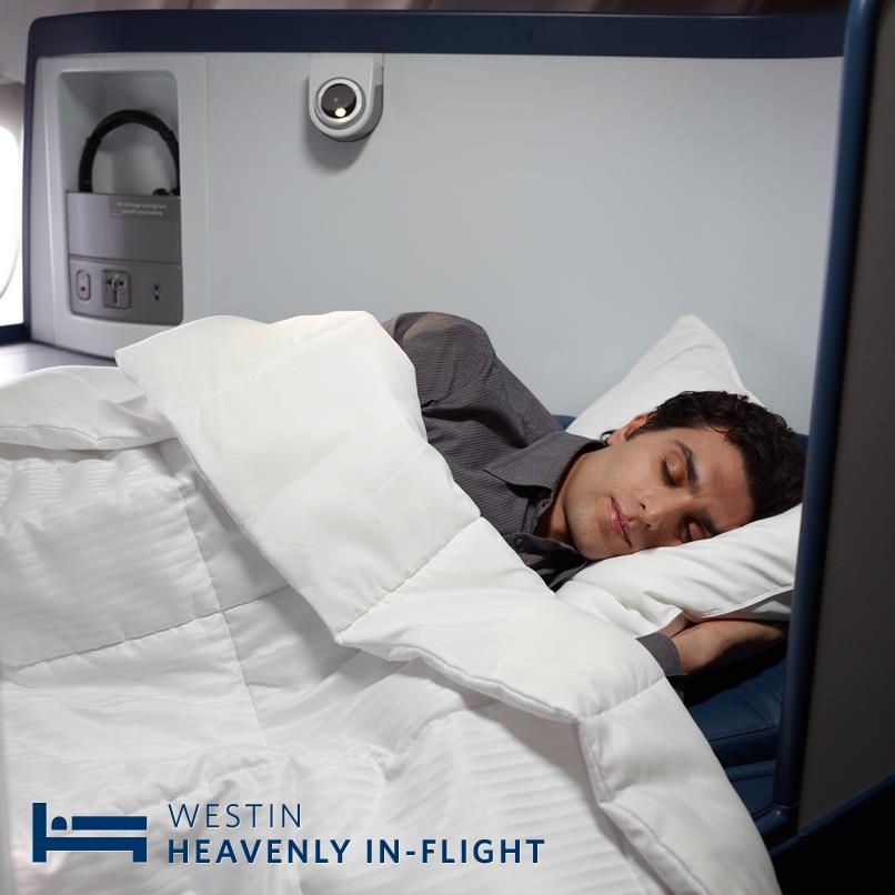 Delta is adding Westin Heavenly Pillows and Duvets in BusinessElite.