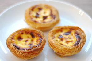 Pastel de nata is a famous Portuguese pastry.