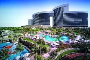 Overview of the Grand Hyatt Dubai.