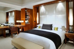 King guest room at the JW Marriott Marquis Dubai.