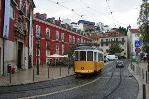 A Tram in Alfama