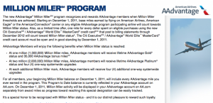 American's Million Miler program is much more sophisticated than US Airways'.