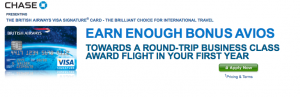 The current British Airways Visa offer is one of the top on the market.