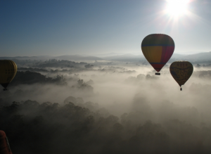 Spend a morning hot air ballooning with Go Wild Ballooning.