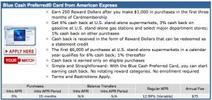 Blue Cash Preferred 25k