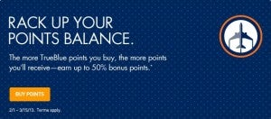 Earn up to 50% bonus on TrueBlue points.