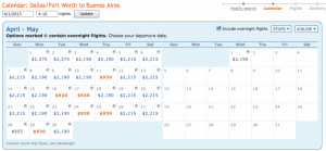 Fares on this itinerary in April as low as $930.