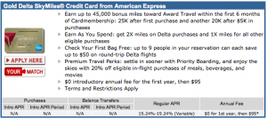 The offer of 45,000 miles is 50% higher than the current public offer.