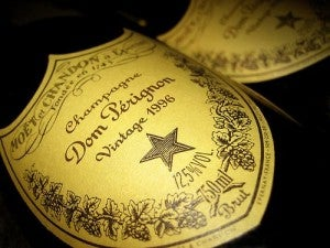 A bottel of Dom Perignon.