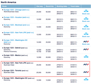 This round of Flying Blue Promo Awards includes discounted business class to Europe from New York and Toronto.