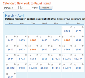 NYC- Kauai monthlong results