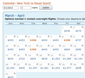 NYC- Kauai monthlong results
