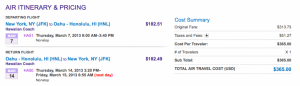 $365 total roundtrip JFK-HNL on Hawaiian this March.. Spring break anyone?