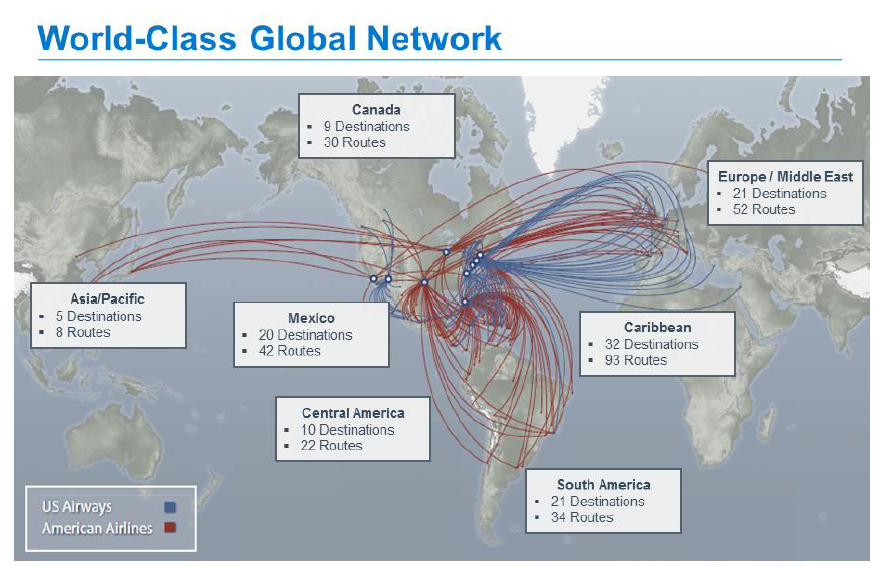 International Routes The Points Guy - Us airways europe route map