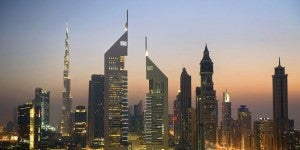 Dubai's iconic Jumeirah Emirates Towers.