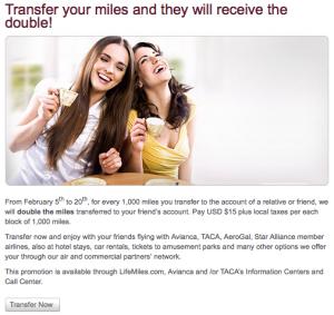With this bonus, transferring miles costs