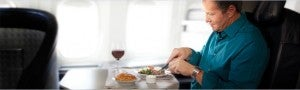 American allows First and Business Class passengers to reserve meals in advance.