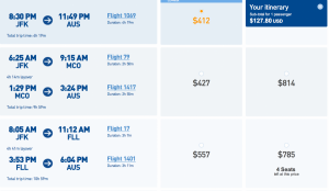 Book a round trip flight to Austin for only $90.40.