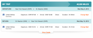 Using Aeroplan miles you can book on Star Alliance partner United for 40,000 miles from Newark- St Maarten.