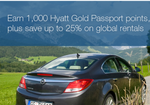 Earn 1,000 Hyatt Gold now through the end of the year with Avis.