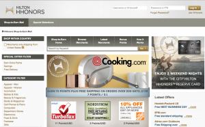 Shop through Hilton's online portal for bonus earning.