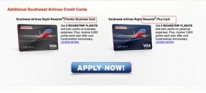 Business Premier and Personal Plus offers are available at the bottom of the screen