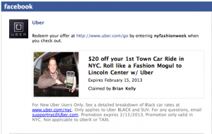 Get $25 off an Uber ride in NYC by this Friday.
