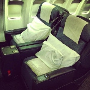 United's current premium services first class product.