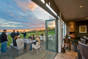 Enjoy the phenomenal views from the Wine Bar at Cable Bay Vineyards.