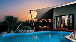 Bedouin Suites at the Al Maha Desert Resort & Spa come with private pools.