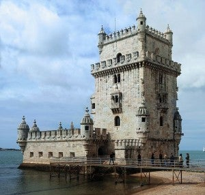 The Tower of Belem is one of Lisbon's iconic landmarks.
