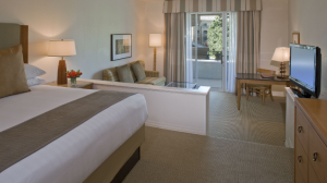 King guest room at the Hyatt Regency Indian Wells Resort & Spa.