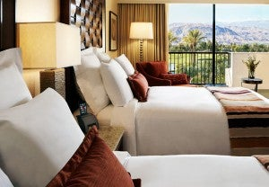 Double guest room at the JW Marriott Desert Springs Resort & Spa.