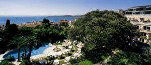 Olissippo Lapa Palace overlooks the Tagus River.