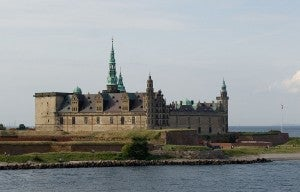 Visit Kronborg Castle in Helsingør, Denmark which sits on the northeastern tip of the island Zealand.