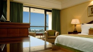 Deluxe king guest room at the Le Royal Méridien Beach Resort & Spa.