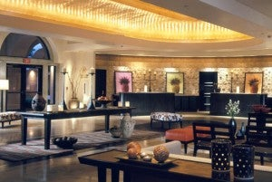 Lobby area at the Westin Mission Hills Resort & Spa.