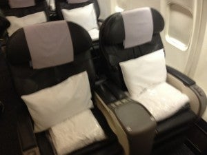 United's current premium services business class seats.