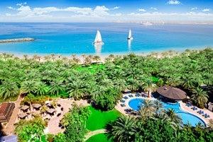 Resort overview at the Sheraton Jumeirah Beach Resort.