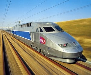 France's high-speed TGV train only takes 45 minutes from Paris to Reims.
