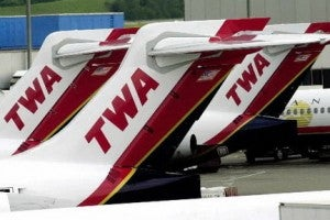 American took over TWA in 2001.