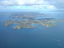 The western part of Waiheke Island.