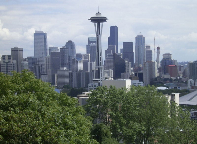 Skyline view of Seattle.