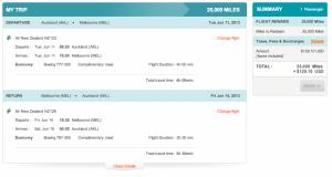 Air New Zealand AKL-MEL Economy