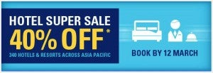 Save 40% on Accor hotel stays through September.