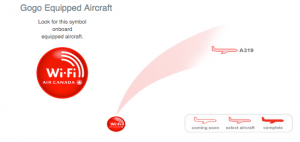 Air Canada currently only offers WiFi on flights between LA and Montreal or Toronto.