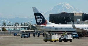Alaska Airlines has a hub at Seattle-Tacoma International Airport