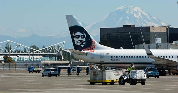 Alaska Airlines has a hub at
