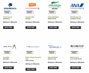 Amex's airline transfer partners no longer include Continental.